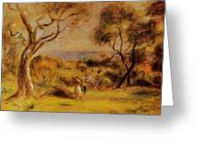 A Walk By The Sea 1915 Greeting Card