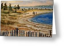A Walk By The Seashore Greeting Card