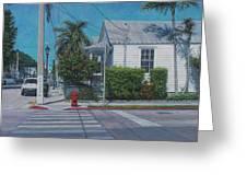 A Walk In Key West Greeting Card