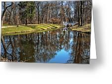 A Walk In The Park Lazienki Warsaw Greeting Card