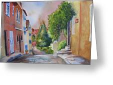A Walk In The Village Greeting Card