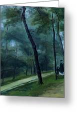 A Walk In The Woods Madame Lecoeur And Her Children 1870 Greeting Card