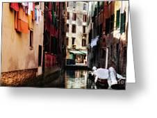 A Walk In Venice Greeting Card