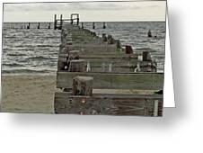 A Walk Into The Gulf Greeting Card