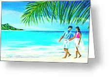 A Walk On Waikiki Beach #190 Greeting Card