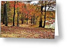 A Walk Through Autumn  Greeting Card