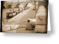 A Walk Through Paris 1 Greeting Card by Mike McGlothlen