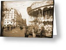 A Walk Through Paris 4 Greeting Card