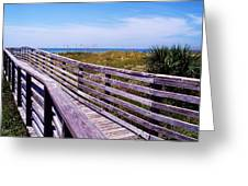 A Walk To The Beach Greeting Card