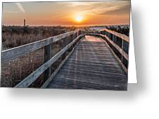 A Walk To The Sun Greeting Card