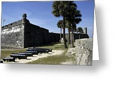 A Wall Of The Castle At San Marcos Greeting Card