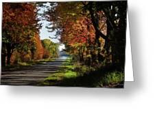 A Warm Fall Day Greeting Card