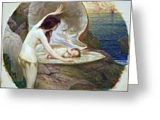 A Water Baby Greeting Card by Herbert James Draper