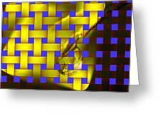 A Waterdrop In Weave  Greeting Card
