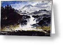 A Waterfall Greeting Card