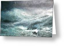 a wave my way by Jarko Greeting Card