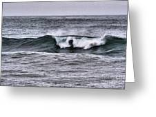 A Wave On The Ocean Greeting Card