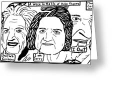 A Week In The Life Of Helen Thomas By Yonatan Frimer Greeting Card by Yonatan Frimer Maze Artist