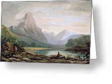 A Welsh Valley Greeting Card by John Varley