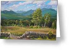 A  White Mountain View Greeting Card