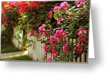 A White Picket Fence Greeting Card