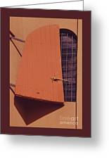 A Window With Shutter, Tortola Greeting Card