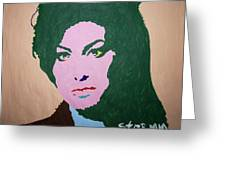 A J Winehouse Greeting Card