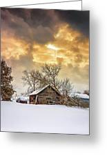A Winter Eve Greeting Card