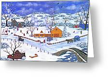 A Winter Evening Greeting Card