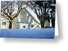 A Winter Holiday At The Farm Greeting Card