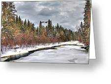 A Winter View Greeting Card