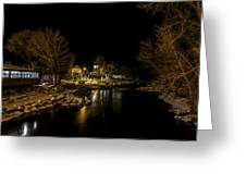 A Winter's River Greeting Card