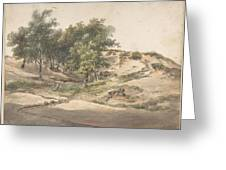 A Wooded Landscape Near Beekhuizen Greeting Card
