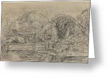A Woodland Pond Greeting Card