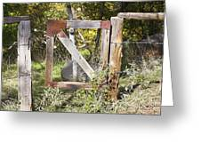 A Woodsy Gate Greeting Card