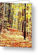 A Yellow Wood Greeting Card by Joshua House
