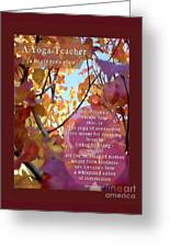 A Yoga Teacher Greeting Card by Felipe Adan Lerma