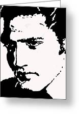 A Young Elvis Greeting Card by Robert Margetts