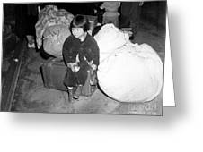 A Young Evacuee Of Japanese Ancestry Greeting Card by Stocktrek Images