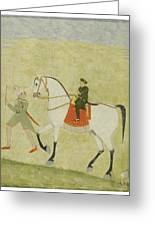 A Young Prince On Horseback Greeting Card