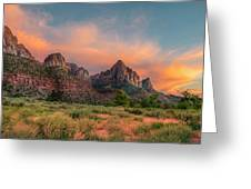 A Zion Sunset Greeting Card