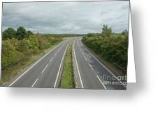 A27 Dual Carriageway Totally Clear Of Traffic. Greeting Card
