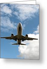B737 Landing Greeting Card