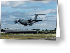 A400m Plane Lands Greeting Card