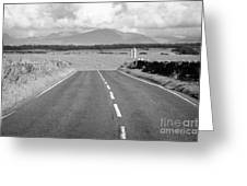 A4080 Rural A Road Through Rural Anglesey North Wales Uk Greeting Card