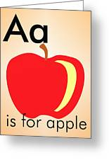 Aa Is For Apple Greeting Card