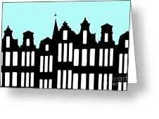 Aan De Amsterdamse Grachten - On The Amsterdam Canals Greeting Card