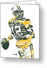 Aaron Rodgers Green Bay Packers Pixel Art 15 Greeting Card
