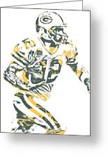Aaron Rodgers Green Bay Packers Pixel Art 22 Greeting Card