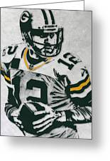 Aaron Rodgers Green Bay Packers Pixel Art 4 Greeting Card